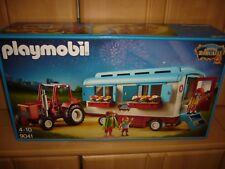 Playmmobil 9041 Roncalli Wohnwagen mit Einrichtung + Traktor Zirkus Zelt Trekker