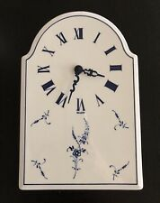 VERY RARE Villeroy & Boch Vieux Luxembourg Hanging Wall Clock Blue Floral
