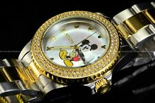 Invicta 40mm Disney Micky Mouse Lim Ed Swiss Diamond Mother of Pearl 2Tone Watch