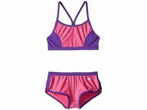Speedo Girls Swimwear Purple Pink Size XL Shorts Contrast Bikini Set $44 407