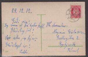Norway 1912. Postcard to Iceland. Good destination.