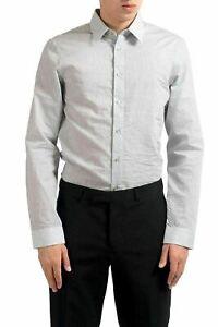 Jil Sander Men's Striped Long Sleeve Dress Shirt US 16 IT 41