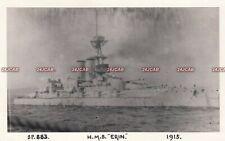 "Unique Royal Navy RP Card. HMS ""Erin"" Battleship. Fine condition! 1915"
