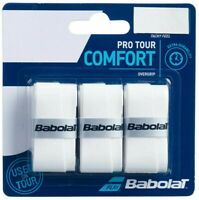 BABOLAT PRO TOUR OVERGRIP - PACK OF 3 GRIPS - WHITE - RRP £10