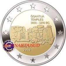 2 Euro Commémorative Malte 2016 BU Temple avec poinçon F de la MDP