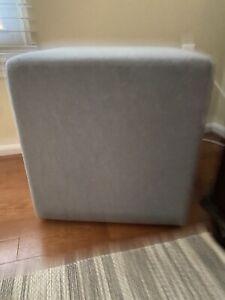 """Buzzi Space brand 18"""" Felt Cube Ottoman, Gray"""