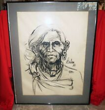 BALAN NAMBIAR Mid Century PORTRAIT PAINTING - WORLD RENOWN INDIAN ARTIST India