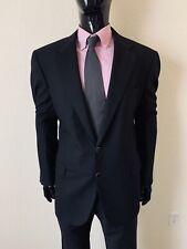 Brioni All Black Suit Coat Blazer Size 44R Mint! Traiano w/ Gold Buttons