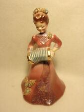 Josef Originals California Figurine Mama with Accordion *Missing Rhinestones*