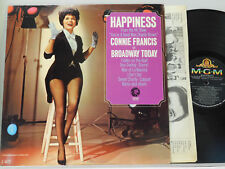 Connie Francis LP Happiness   MGM VG++ pop