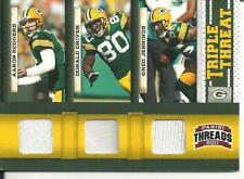 Aaron Rodgers Donald Driver Greg Jennings #/D SP 3 Piece Game-Worn Jersey Patch!