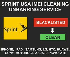 Sprint USA Unbarring, Cleaning Service, iPhone, Samsung, LG, Alcatel, Sony, ZTE