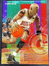 MICHAEL JORDAN, CHICAGO BULLS, 1995-96 NBA/FLEER, HOLO, CARD #22, HOF, GOAT
