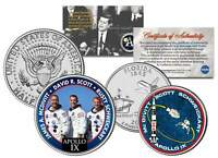 APOLLO 9 SPACE MISSION 2-Coin Set U.S. Quarter & JFK Half Dollar NASA ASTRONAUTS