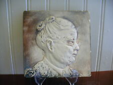 1949 Alice Cranston Fenner Hand Painted Chalkware Old Woman Wall Placque