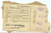 Scarce Householder receipt with Meter, 20c single usage for 20 items 1948 Canada