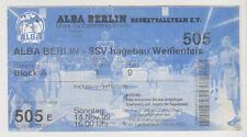 Sammler Used Ticket / Entrada Alba Berlin v SSV Hagebau Weissenfels 14-11-1999