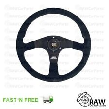 Mugen Style Universal Suede Steering Wheel for Honda Civic Integra S2000 Prelude