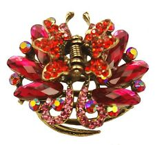 F60300 Colourful hairstyling crystal embellished sequined jaw hair clip - pink a