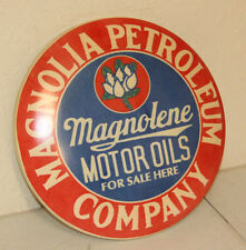 MAGNOLIA MOTOR OIL Petroleum Dome Signs Vintage Style Garage Gas Pump MAN CAVE