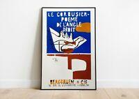 Le Corbusier Exhibition Poster | Le Corbusier Print | Modern Art | Wall Decor