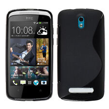 Covers Case Cover Wallet Silicone TPU Gel for HTC 500 Desire + Films Screen