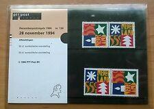 """Nederland PTT mapje 130 """"Decemberpostzegels"""" 1994"""