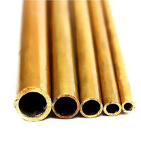 1/5pcs 300mm Long Round Brass Tube Pipe Tubing Inner Diameter 2/ 3 4/5/6mm