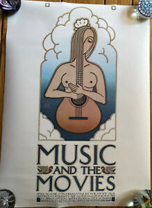 """David Lance Goines Poster """"Music and the Movies"""" 1977"""