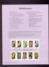 #2647-96 29c Wildflower Stamps (50)  Set of 5 USPS #9223-9227 Souvenir Pages