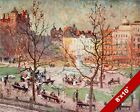 EMILE CLAUS VIEW OF LONDON PARK SQUARE OLD ENGLAND ART CANVAS PAINTING PRINT