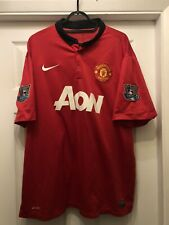 2013-14 Manchester United Home Shirt - 2XL -*v.Persie 20 On Back + Patches*