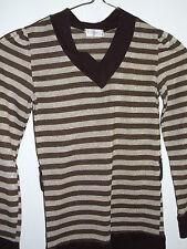 OSSIAN Girls brown striped long top