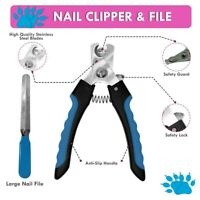 1x Pet Dog Cat Nail paw Claw Clippers scissors Trimmer Grooming Nail File Kit