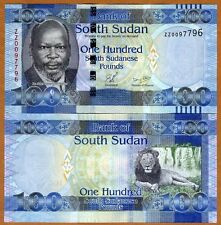 South Sudan, 100 Pounds, 2011, P-10a, UNC > ZZ, REPLACEMENT
