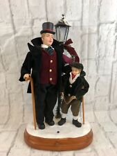 Christmas International Lighted Musical Dickens Tablepiece Plays Silent Night