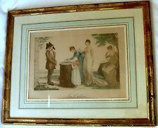 "GRAVURE POLYCHROME ENCADREE ""LES OUBLIES"" DESSIN BOSIO GRAVURE SCHENKER 1815"