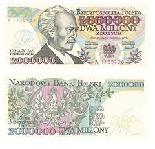 POLAND BANKNOTE 2000000 ZLOTYCH Issue 14.08. 1992 prefix A P.158 UNC - ERROR