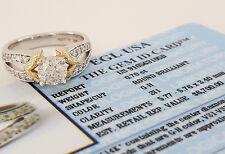 A. Jaffe 1.10 ct 14k 2-Tone Gold Round Diamond Engagement Ring Rtl $6.7k