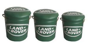 Retro Land Rover Stool/Storage Bin Medium