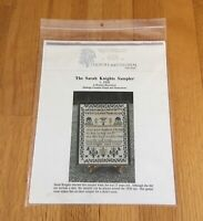 """Country & Colonial Stitches """"Sarah Knights Sampler"""" Cross Stitch Pattern NIP"""