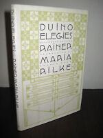 Duino Elegies Rainer Maria Rilke 1st Bilingual Edition Poetry Poems First Print