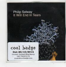 (FN266) Philip Selway, It Will End In Tears - 2014 DJ CD