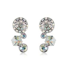 Womens Et Circulo Earrings made with Swarovski Elements Crystal Gift
