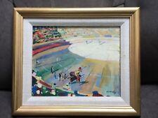 "Boris Smirnoff Russian French cubist avant-garde artist oil on board ""Bullfight"""