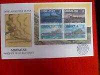 1996 WORLD WAR  II  MINI SHEET FIRST DAY COVER SET OF 4 STAMPS
