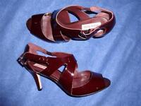 Diana Ferrari Ezra Burgundy BORDEAUX PATENT Leather SHOES New Size 10 RRP$129.95