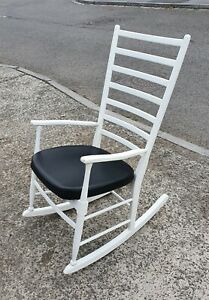 VINTAGE DANISH LADDERBACK ROCKING  CHAIR        DELIVERY AVAILABLE