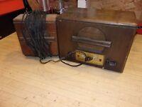 Vintage Webster Teletalk Model 105M - Intercom Wood Radio - Tube - 1946 - works