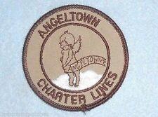 "Angeltown Charter Lines Patch - 3"" x 3"" Anaheim California  Trucking / Freight"